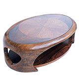 Table basse troglodyte